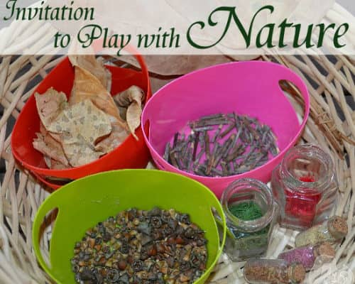 Invitation to play with nature