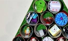 DIY recycled Advent calendar using toilet rolls!