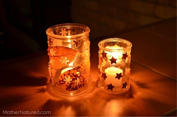 Nature Candle holders: Light them up and watch nature shine!