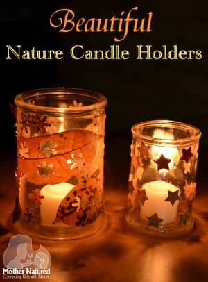 Nature Decorated Candle