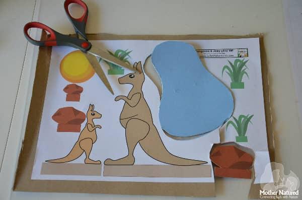 Kangaroo puppet play set: Mother and Joey
