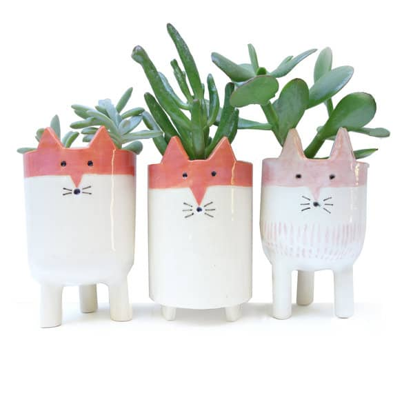 Fox Planter Gift Idea
