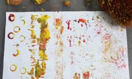 Painting patterns using nature