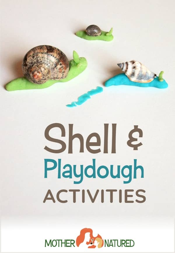 playdough and shells