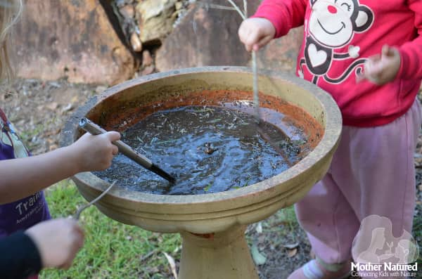 Stirring mud