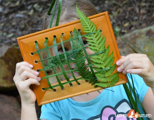 Nature Weaving for kids