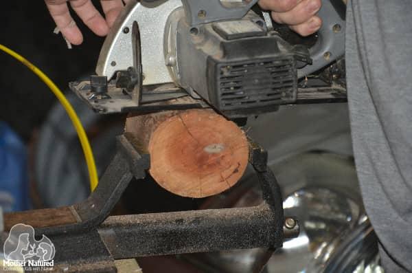 Cutting a stump