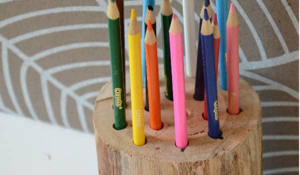 Stump Pen Pencil Holder