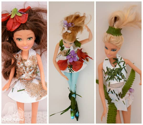 Barbie Dressed up Nature style