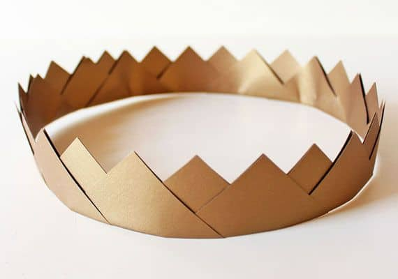 Gold nature crown