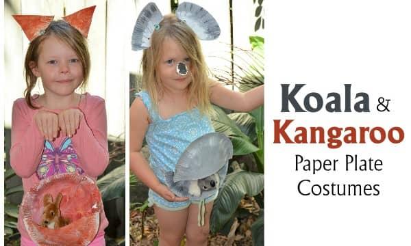 DIY Kangaroo and Koala Paper Plate Costume