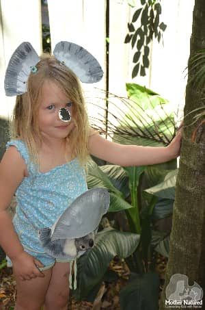 Koala Paper Plate Costume for Kids