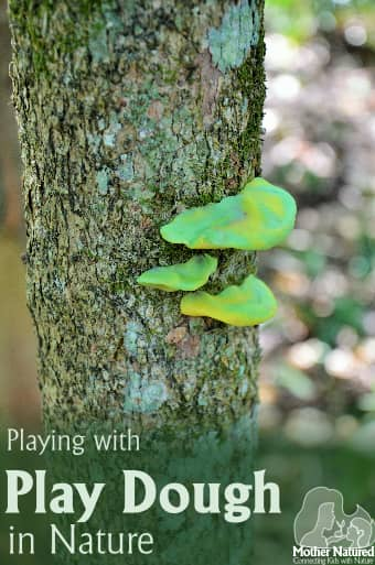 Playing with Play dough in Nature - It's nice to take it ouside