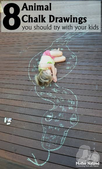 Eight Animal Chalk Drawing Ideas for Kids