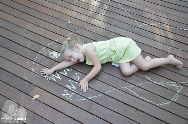 Shark Chalk Drawing