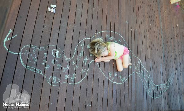 Chalk Drawing Activity for Kids