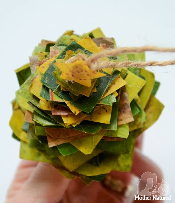 Nature Christmas Tree Craft