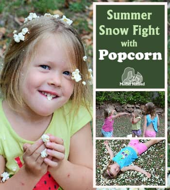 Summer snow fight with Chilled Popcorn
