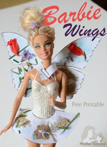 Barbie Butterfly Wings Printable
