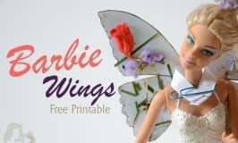 DIY butterfly Barbie wings printable