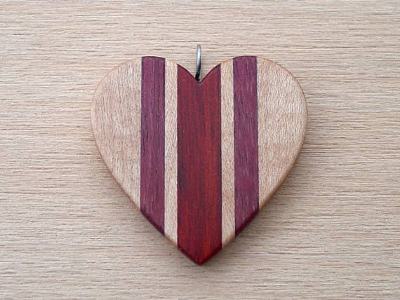 Wooden necklace gift