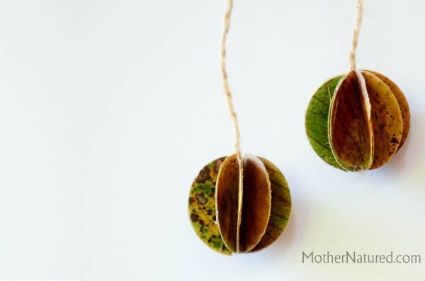leaf paper balls