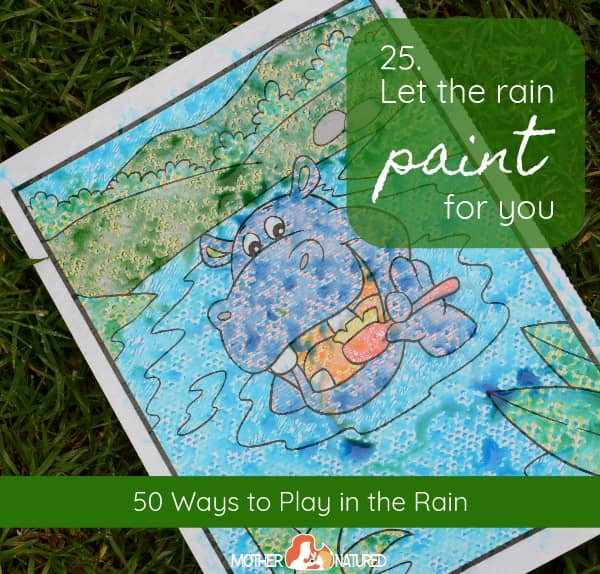 Paint in the rain