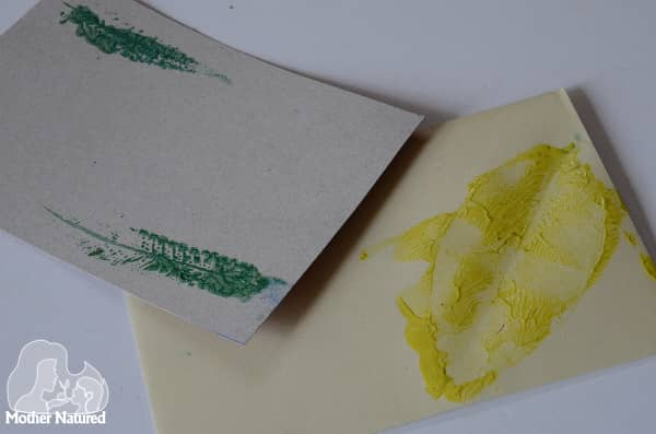 Printing leaves on stationary