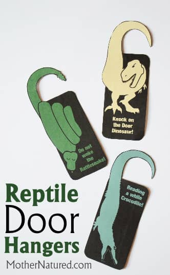 Reptile Door Hangers for Kid