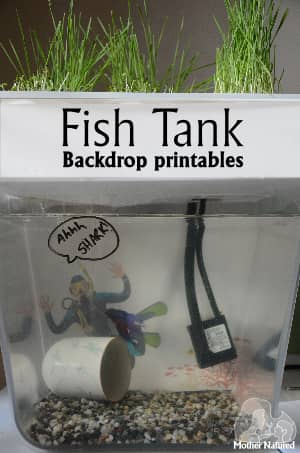 Fish Tank Backdrop Printables