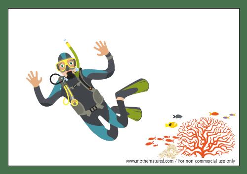 Fish Tank background scuba diver