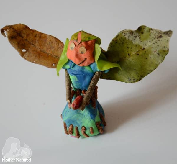 Playdough and nature fairy