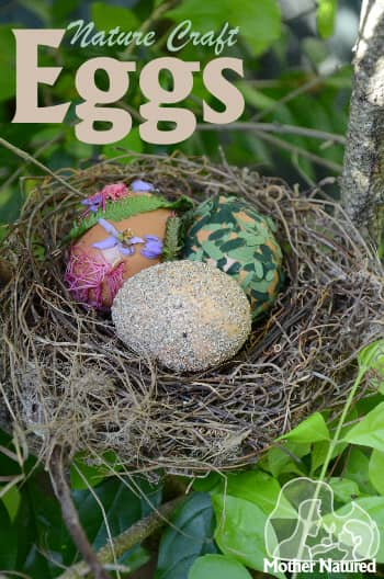 Nature Crafts using Blown Eggs