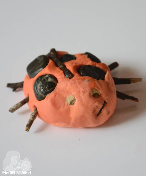 Playdough and Nature ladybug