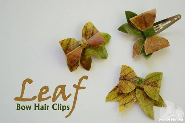 Beautiful Leaf bows: use as stunning decorations or even in your hair!