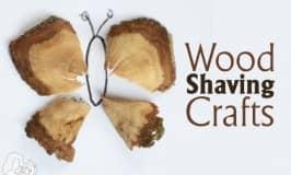 Wood Shaving Crafts for Kids