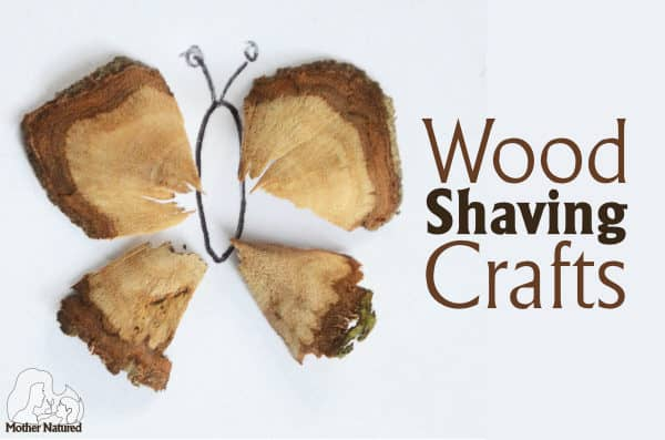 Make wood shaving crafts using the simple stick