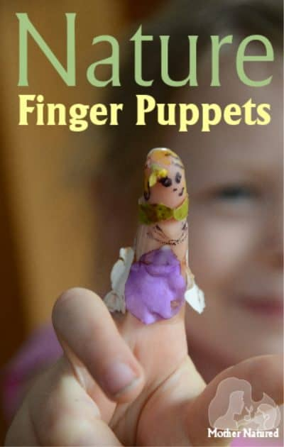 Make Nature Finger Puppets