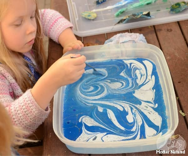Marbling with kids