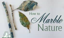 How to marble nature – feathers, sticks and leaves