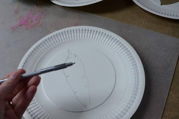 Use a sharp tool to cut out shape