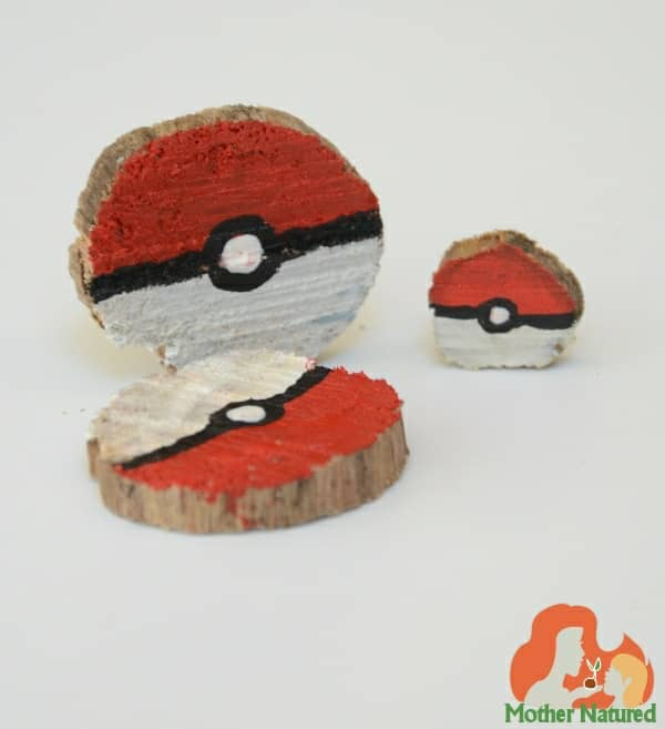 Pokeballs made with wood