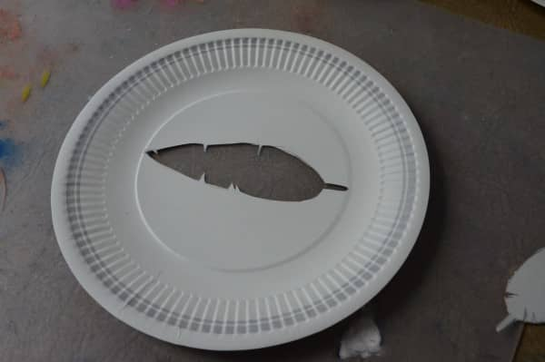 cut nature silhouette out of paper plate