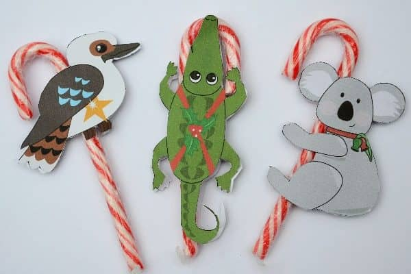 Free printable candy cane animal tags you will love