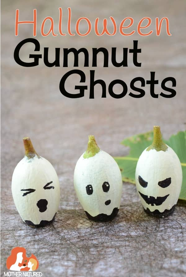 Gumnut Ghost Nature Craft