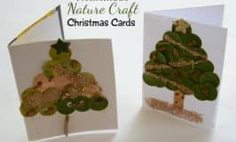 Homemade nature craft Christmas cards