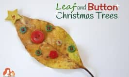 Get crafty with these Leaf and Button Christmas Trees