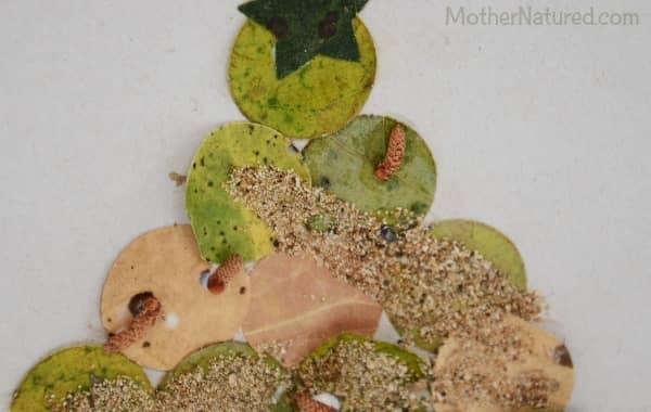 Homemade Nature Christmas card