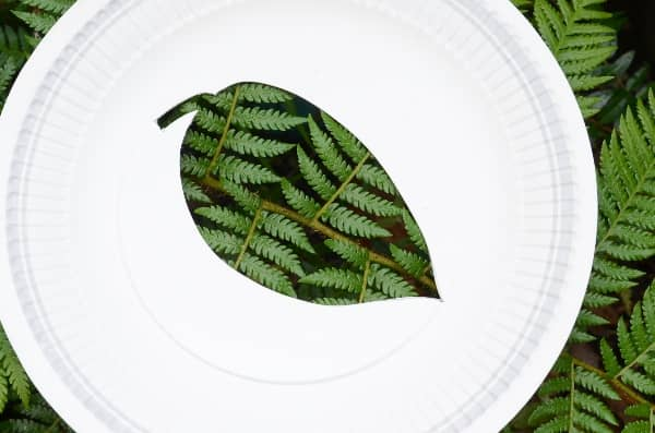 Nature shilouettes using paper plates