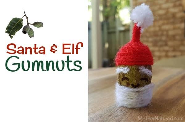 Christmas gumnut craft